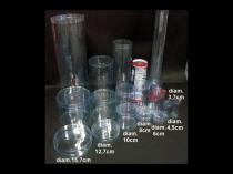 Cilindri din plastic transparent